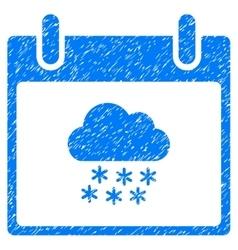 Snow Cloud Calendar Day Grainy Texture Icon vector image