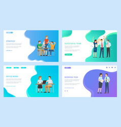strategy and successful team people at work web vector image