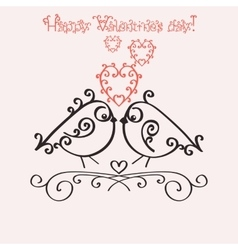 Template greeting card or invitation for vector image