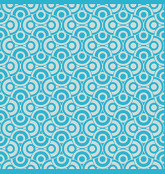 Turquoise pattern with circles vector