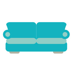 two seat couch or sofa icon image vector image