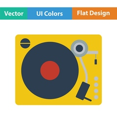 Vinyl player icon vector
