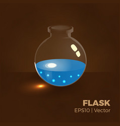 water flask vector image