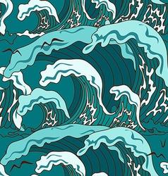 Waves of ocean seamless pattern vector image