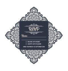 wedding card laser cut template vector image