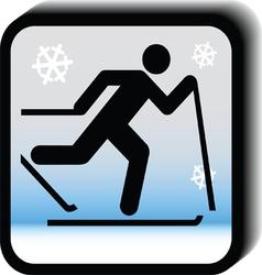 Winter icon - running vector image