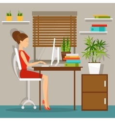 Workplace Working day vector image