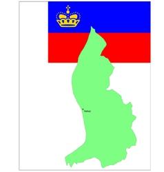 6142 liechtenstein map and flag vector image