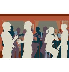 Pub crowd vector image