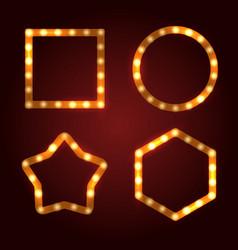 retro light bulb frames set vector image