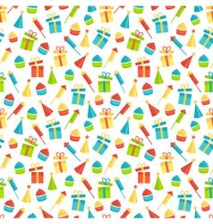 Seamless bright fun celebration festive pattern vector image vector image