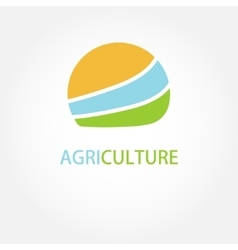 Circle agricultural logo vector image