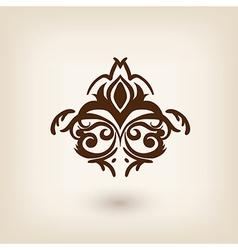 luxury damask baroque victorian floating design vector image vector image