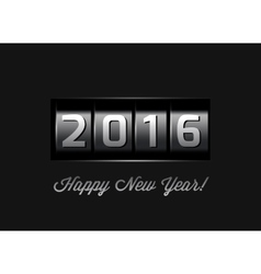 New Year counter 2016 vector image vector image