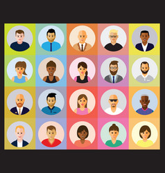 people profile vector image vector image