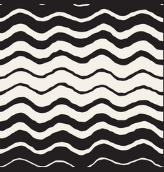seamless wavy hand drawn stripes pattern vector image vector image