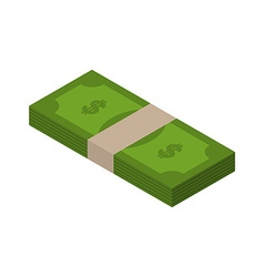 Stack of money isometric tutu of dollars on white vector image vector image