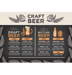 Beer restaurant cafe menu template design vector
