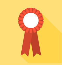 blank red rosette vector image