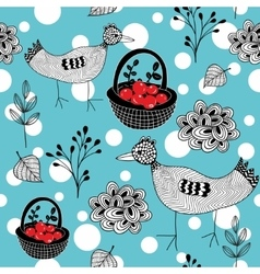 Cold winter seamless pattern with white snowballs vector image