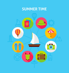 concept summer time vector image vector image