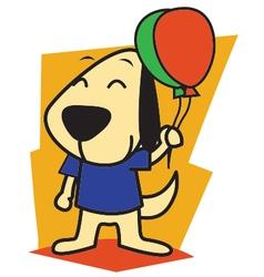 Dog and ballon vector