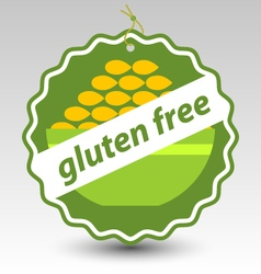 Green gluten free bowl wheat stamp tag label vector