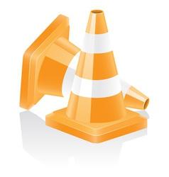 icon traffic cone vector image vector image