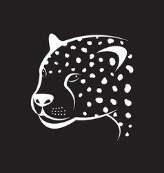 image of an cheetah face on black background vector image vector image