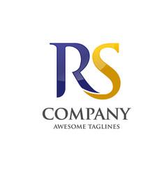 letter r and s rssrletter s letter r logo vector image vector image