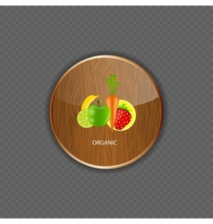 Organic wood application icons vector image