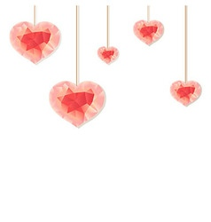 Pink Origami Heart vector image vector image