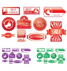 promo stickers vector image
