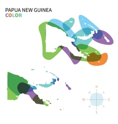 Abstract color map of papua new guinea vector