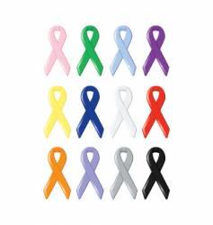awareness ribbons vector image