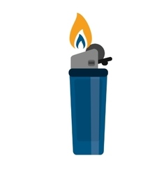blue gas lighter flame icon vector image vector image