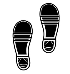 Clean Shoe Imprints vector image