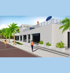 dalmation riviera hotel vector image