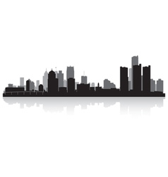 Detroit USA city skyline silhouette vector image vector image