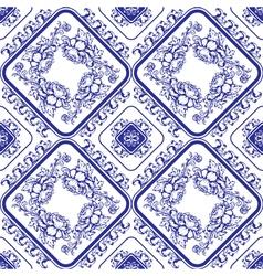 Flowers blue seamless 380 vector
