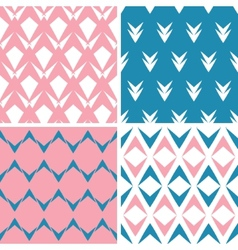 Four abstract pink blue arrows geometric pink vector image vector image