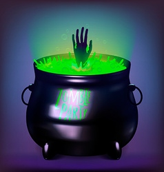 Halloween witches cauldron drawing vector