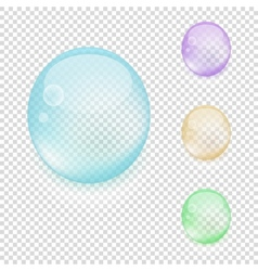 Multicolored transparent drops vector image
