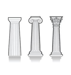 Stylized Greek columns vector image vector image