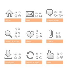 universal software icon set web part vector image vector image