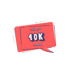 10k followers template design vector