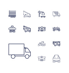13 trailer icons vector