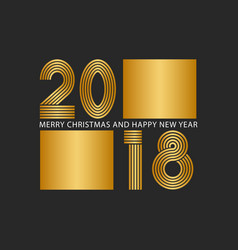 2018 happy new year and merry christmas shiny vector