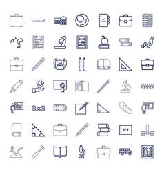 49 school icons vector