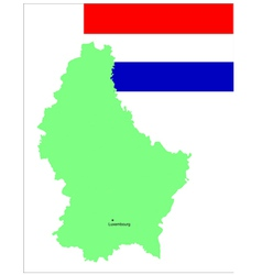 6143 luxembourg map and flag vector